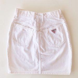 Vintage Guess Denim White Mini Skirt